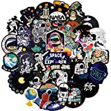 HSRWGD NASA Stickers for Water Bottles Big 50pcs Personalized Computers Laptop Skins Vinyl Decals for Hydro Flask Bike Luggage Guitar iPad Rewards for Kids (NASA50)