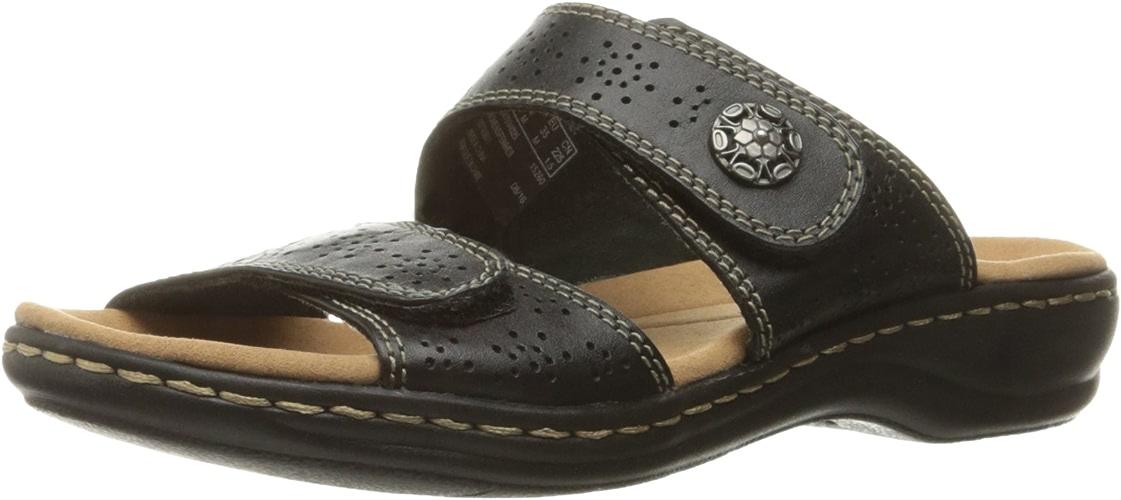Clarks Wohommes Leisa Lacole Slide Sandal, noir cuir, 9 W US