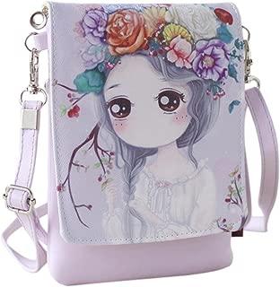 HP95(TM) Kids Girl Mini Crossbody Bag with Magnetic buckle Women Anime Shoulder Bag Cell Phone Purse (D)