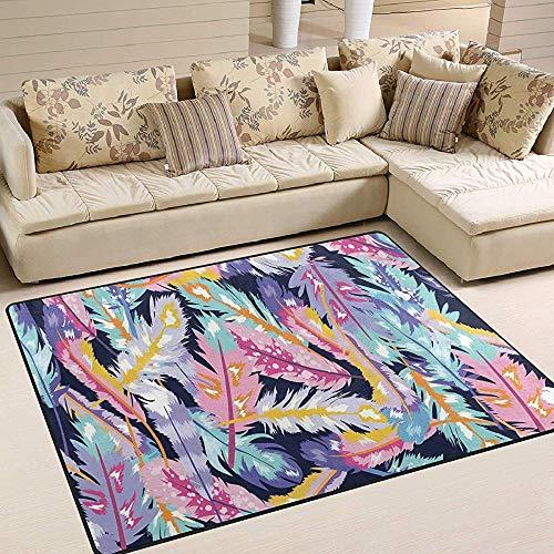 Teppiche Bunte Boho Feder Muster Rosa Blau Bodenmatte Wohnzimmer Schlafzimmer Sofa Teppich rutschfeste Home Area Rug Mat