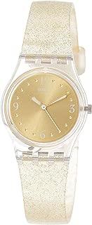 Swatch Women's Golden Glistar Too LK382 Gold Silicone Swiss Quartz Fashion Watch