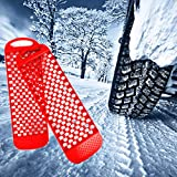 2pcs All-Weather Car Wheel Anti Skid Pads Emergency Tire Traction Mat Pad for Sand Mud Snow Ice Complex Terrain