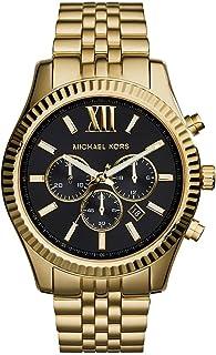 MichAEl Kors Lexington For Men Black Dial Stainless Steel Band Watch - Mk8286
