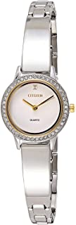 Citizen Women White Dial Stainless Steel Band Watch - EJ6134-50A