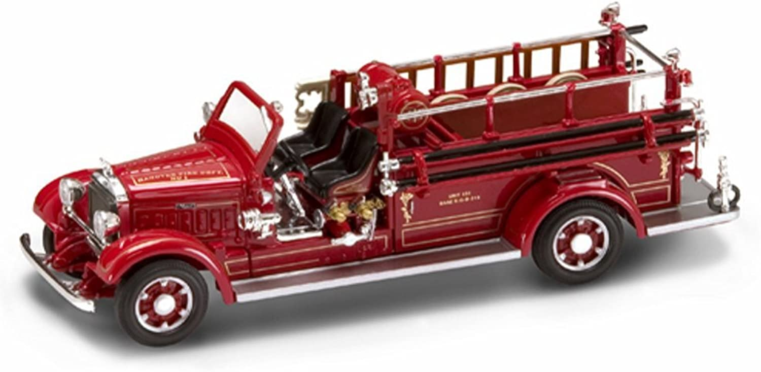 1935 Mack Type 75BX Fire Engine Hanover, Red - Yatming 43001 - 1 43 Scale Diecast Model Toy Car