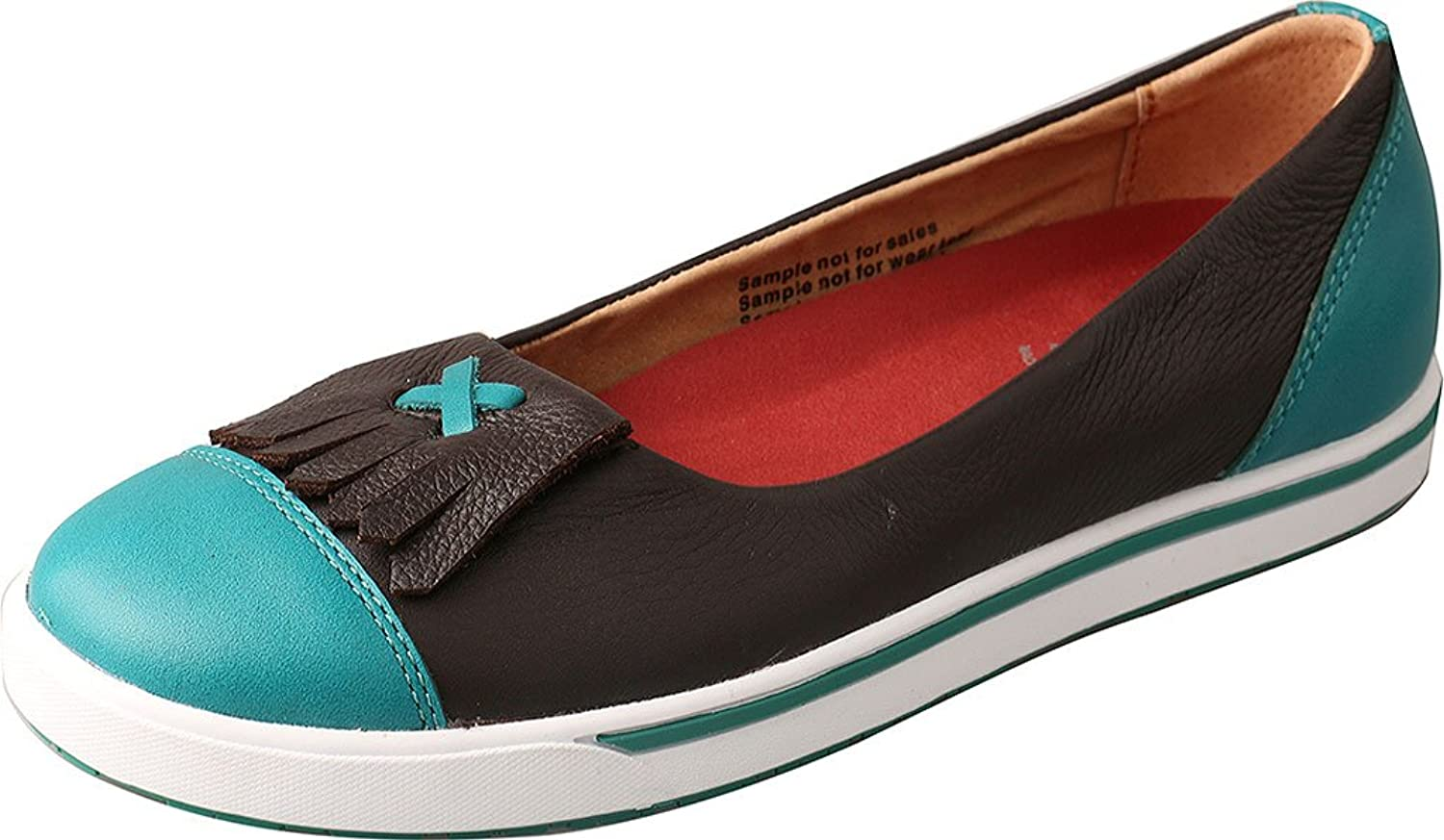 Twisted X Casual shoes Womens Slip On Round Choc Turquoise WCA0002