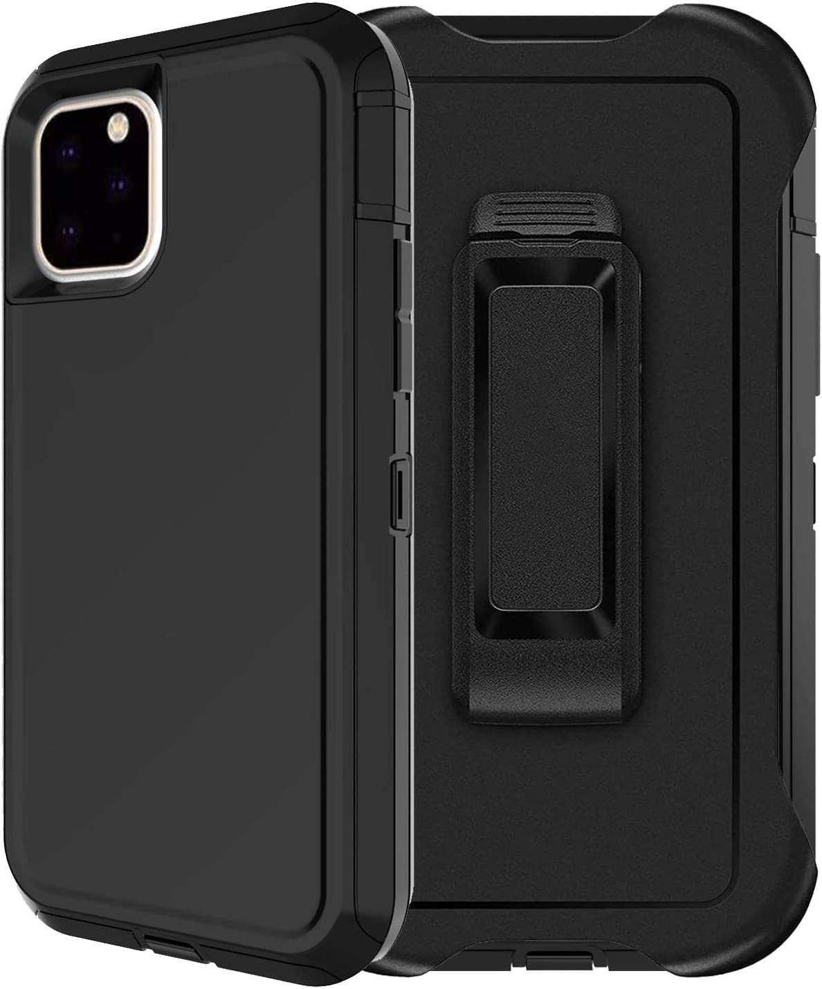 Aimoll-88 for iPhone 11 Pro Case, with [Belt Clip/Kickstand] [Built-in Screen Protector] 4 in 1 Heavy Duty Shockproof Anti-Scratch Cover for iPhone 11 Pro (5.8