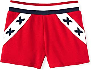 Patriotic Toddler Girls Shorts - Red White and Blue