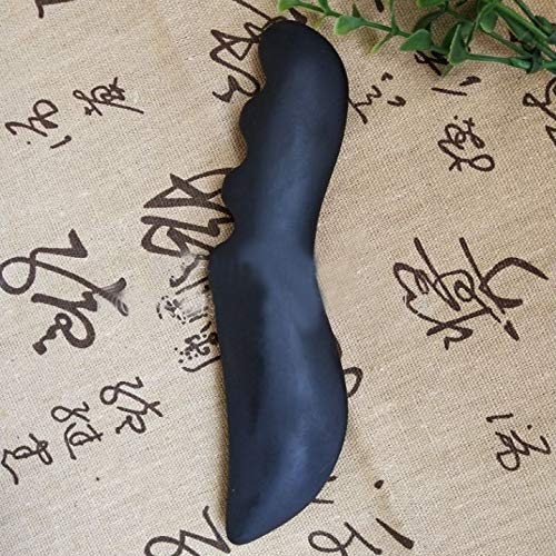 Rabusion Health For Natural Vermiculite Scraping Plate Scythe-Shaped Back Massager Massaging Tools for Body Facial