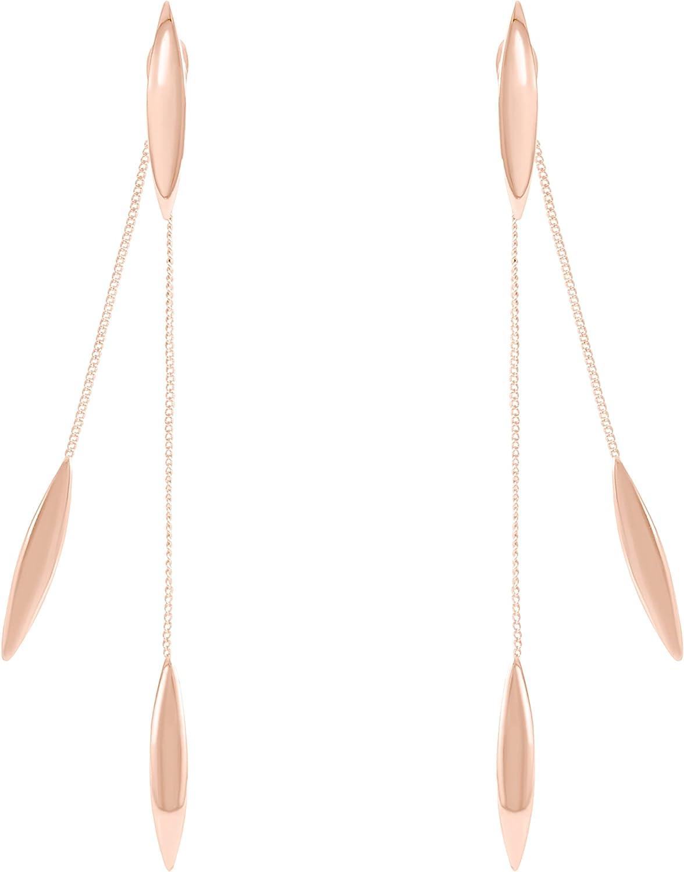 Oval Finally popular brand Round Geometric 55% OFF String Chain Ear Earrings Jacke Drop Danlge