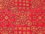 Abstrakter handbedruckter Batik-Baumwollstoff, Meterware,