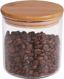 Food Storage Jar, 18.6 FL OZ (550 ML), [Thickened Version] 77L Glass Food Storage Jar with Airtight Seal Bamboo Lid - Mode...