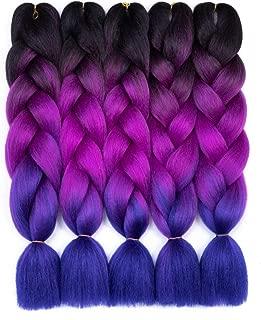 Synthetic Braiding Hair Extensions Kanekalon Hair Ombre Twist Braiding Hair High Temperature Hair Extensions 24
