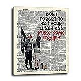 Banksy Canvas Wall Decor 16x20 Graffiti Artwork -...