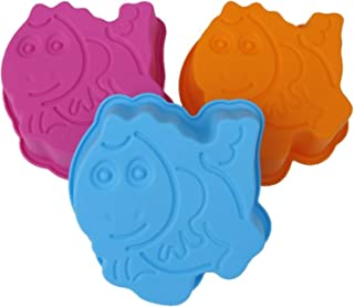 Para niños con diseño de molde para hornear de silicona de moda 3 x molde de