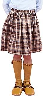 Little Girls high Waisted Pleated School Uniforms Dance Skirts