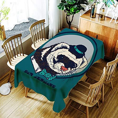 XXDD Mantel para Cachorros, Mantel con patrón de ratón de Dibujos Animados creativos, cómodo, Impermeable, Mantel para el hogar, Cubierta A12 140x160cm