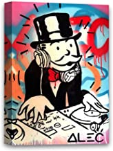 Funny Ugly Christmas Sweater Music DJ Monopoly Newartprint ALEC Monopoly Art HD Printed Oil Paintings Home Wall Decor Art Canvas Money Canvas Print Ready to Hang 8
