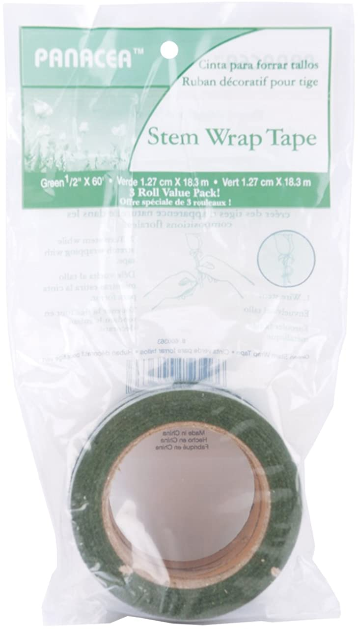 Panacea Floral Tape Value Pack 3/Pkg-Green