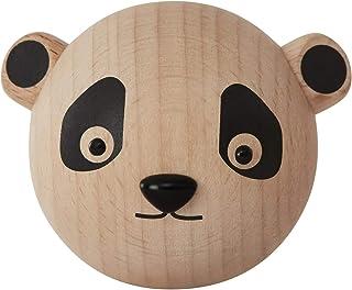 OYOY Mini – väggkrok av trä panda – trädgårdsbåthakar garderob för barn/barnkammare – 4,5 x 6 x 4,5 cm