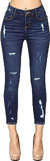 Womens Destroyed Stretch Skinny Jeans Denim