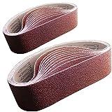 Nastro di carta abrasiva in ossido di alluminio, 100 x 915 mm, grana da 80/120/150/240/400, 2 cinghie di carta vetrata per ciascuna grana, 10 pezzi-FEIHU