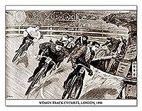 ポスター アーティスト不明 Women Track Cyclists 1898