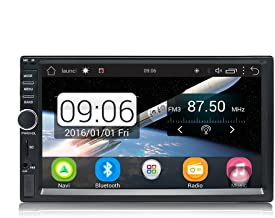 KX011 Android Car Stereo Navegación GPS Quad Core Auto Radio AM/FM 2 Din Pantalla Táctil de 7 Pulgadas 1024 * 600 BT Control del volante 1GB RAM 16GB Soporte ROM Cámara de Visión Trasera DVR Wi-Fi