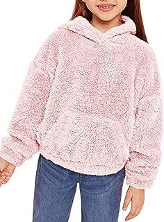 Girls Kid Fleece Hoodie Fashion Loose Cute Jackets Tops Pockets 5-12