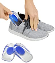 WOQZILINE Gel Heel cups Silicon Heel Pad for Heel Ankle Pain, Heel Spur Shoe Support Pad for Men and Women Shock Cushion Pad for Heels