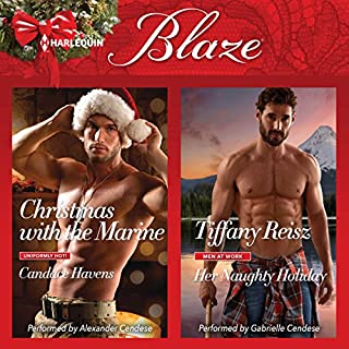 Christmas with the Marine & Her Naughty Holiday audiobook cover art