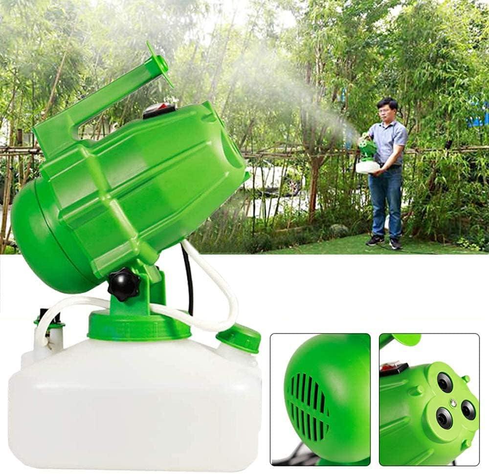 YLJJ Pulverizador ULV eléctrico de 3 Orificios, 5L, nebulizador Inteligente de Mano, nebulizador, atomizador de Niebla, ultracapacidad, 1200 W, máquina de esterilización por pulverización, Verde