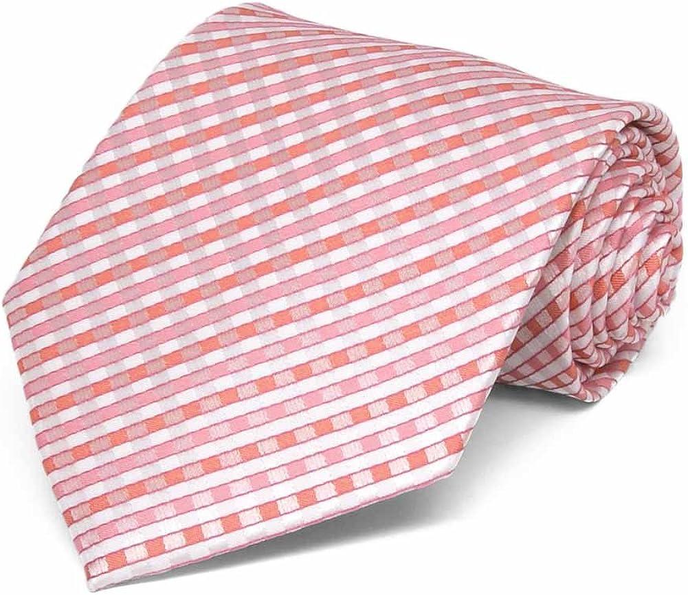 TieMart Perfect Pink George Plaid Necktie