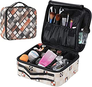 ZWNSWD Ms Multifunction Waterproof Cosmetic Bag PU High Capacity Washing Travel Storage Bag (There is no Cosmetics in The Picture)