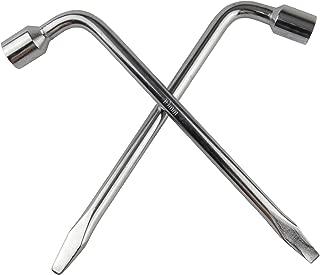 Wisdomen 2pcs Car Spare Tire Lug Wrench for Jack, Hex Socket Lug Wrench Repair Tool