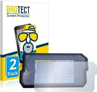 BROTECT 2x Antireflecterende Beschermfolie compatibel met KTM 790 Adventure 2019 Anti-Glare Screen Protector, Mat, Ontspie...