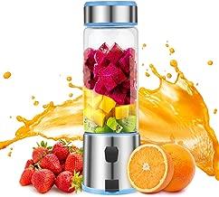 Portable Blender Glass, TOPQSC USB Rechargeable 5200mAh Personal Blender 15oz for Shakes,..