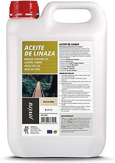 ACEITE DE LINAZA BARNIZ NATURA (100% PURO) Nutrición, protección y cuidado de la madera. (5 L)
