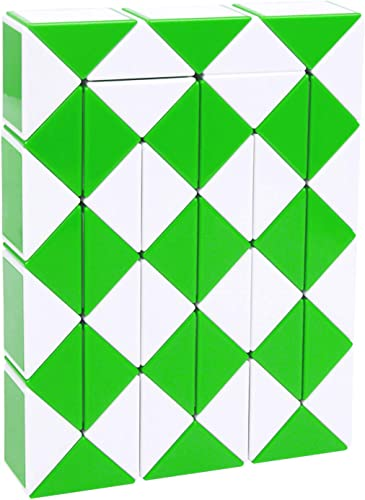 wholesale 48 Parts lowest Magic Cube Snake Twist Ruler MC-01 (Green new arrival and White) outlet sale