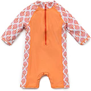 upandfast Baby's Swimsuit Kids One Piece Rash Guard Sunsuit UPF 50+ Sun Protection with Sun Hat
