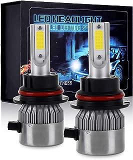 ECCPP 9007 LED Headlight Bulb Hi/Lo Beam White Fog Lights Conversion Kit - 80W 6000K 10400Lm - 3 Year Warranty(Pack of 2)