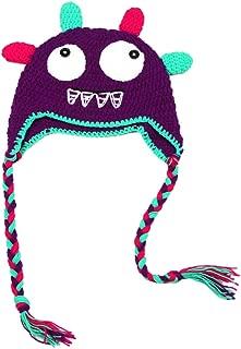 Yonger Cute Animal Owls Dinosaur Monster Crochet Knit Toddler Earflap Cap Hat for Baby Kid Boys Girls