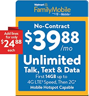 Walmart Family Mobile $39.88 Unlimited Refill Card (Mail Delivery)