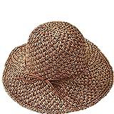 Capeline Eté traspirante cappello sole paglia spiaggia secchio bacino pesca campeggio UPF 50+ Anti-UV cappello visiera Large bordo regolabile Sun Cap viaggio pieghevole per donne signore