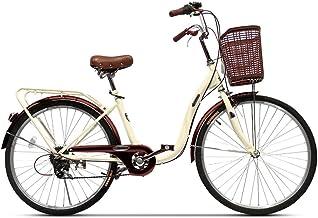 Zhanghongshop Bicicleta Plegable Bicicleta Unisex Bicicleta portátil de una Sola Velocidad de 24 Pulgadas Bicicleta portátil de la Ciudad