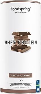 foodspring Proteína Whey, Sabor Chocolate, 750g, 100% proteína de suero de leche, Proteína en polvo para el desarrollo muscular