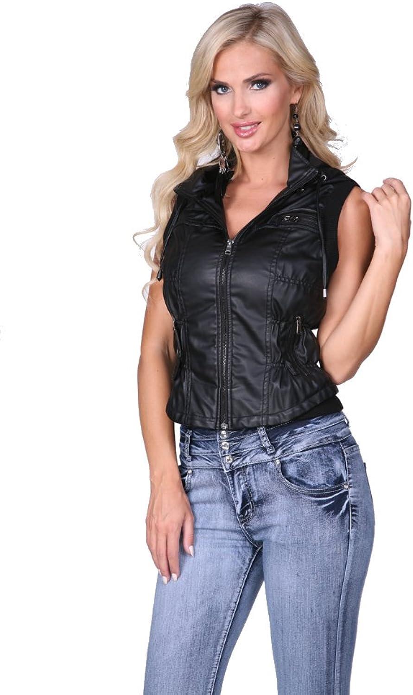 Ci Sono Juniors Faux Leather Vest