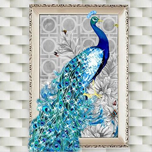 5D Diamond Embroidery Rhinestone Pasted DIY Paintings Cross Stitch Animal Peacock Mosaic Room Decor