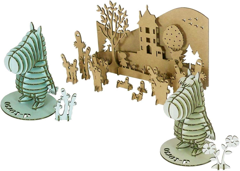 Moomin & Snork Maiden Pair Kit (Paper Craft)