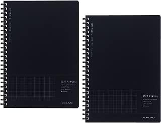 コクヨ ノート ソフトリング Biz A5 方眼罫 エッジタイトル 黒 2冊セット ス-SJ231S5-DX2